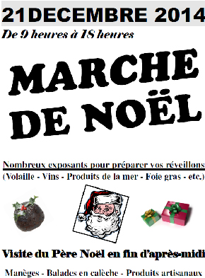 affiche marche noel